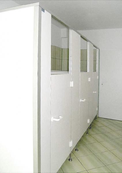 Ścianki w toalecie